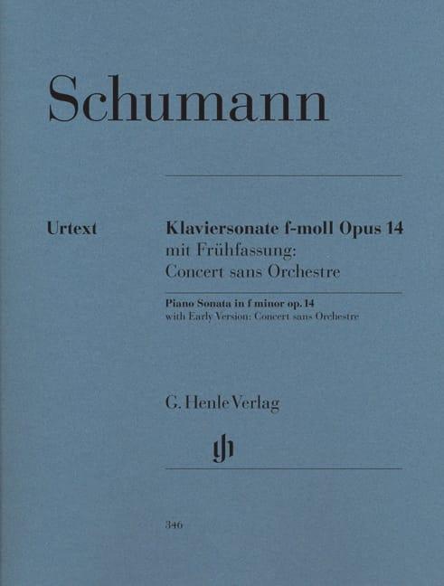 Sonate pour piano en fa mineur op. 14 - SCHUMANN - laflutedepan.com