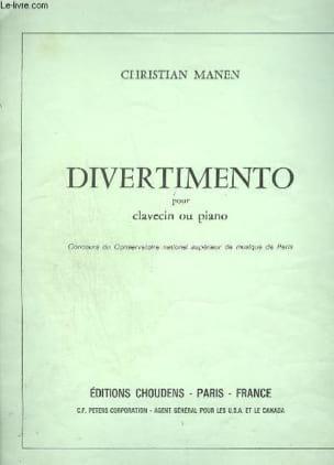 Divertimento - Manen - Partition - Clavecin - laflutedepan.com