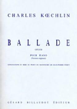 Ballade Opus 50 Charles Koechlin Partition Piano - laflutedepan