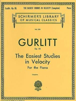 Easiest Studies In Velocity Op. 83 Cornelius Gurlitt laflutedepan