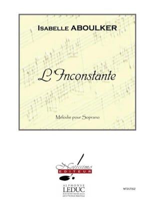L' Inconstante Isabelle Aboulker Partition Mélodies - laflutedepan