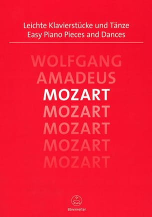 Easy Piano Pieces and Dances MOZART Partition Piano - laflutedepan
