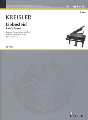 Liebesleid KREISLER Partition Piano - laflutedepan