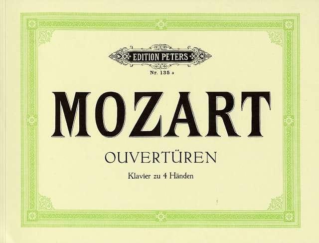 Ouvertures. 4 Mains - MOZART - Partition - Piano - laflutedepan.com