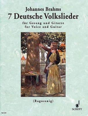 7 Deutsche Volkslieder BRAHMS Partition Guitare - laflutedepan