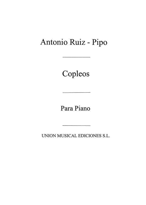 Copleos - Antonio Ruiz-Pipo - Partition - Piano - laflutedepan.com