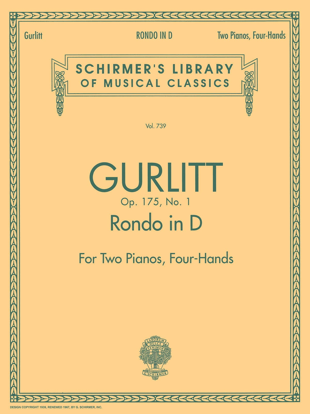 Rondo en ré majeur Op. 175-1. 2 Pianos - laflutedepan.com