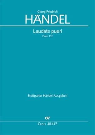 Laudate Pueri Hwv 237. Hautbois 2 - HAENDEL - laflutedepan.com