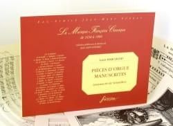 Pièces d'Orgue manuscrites Louis Marchand Partition laflutedepan