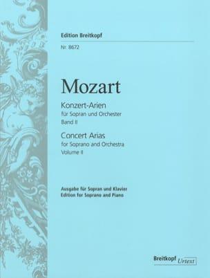 Airs de Concert pour Soprano. Volume 2 MOZART Partition laflutedepan