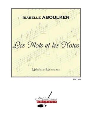 Les Mots et les Notes Isabelle Aboulker Partition laflutedepan
