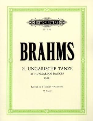 21 Danses Hongroises WoO 1 BRAHMS Partition Piano - laflutedepan