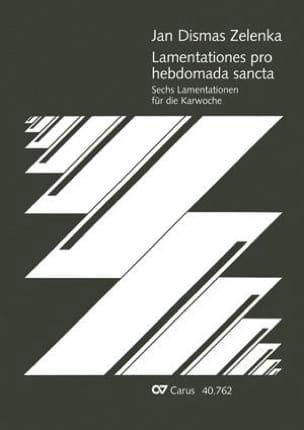 6 Lamentationes Pro Hebdomada Sancta ZELENKA Partition laflutedepan