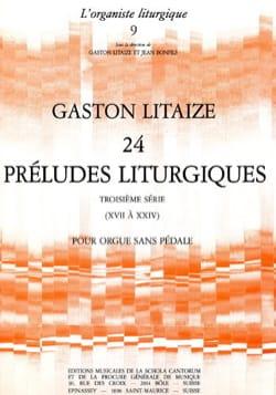 24 Préludes Liturgiques Volume 3 Gaston Litaize Partition laflutedepan