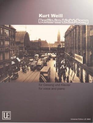 Berlin Im Licht-Song WEILL Partition Mélodies - laflutedepan
