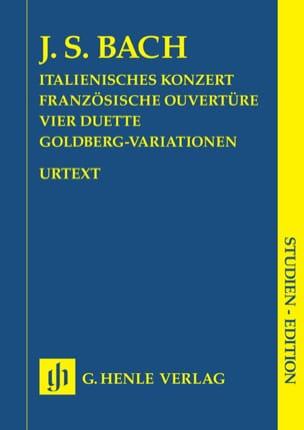 Concerto Italien, Ouverture Française, 4 Duos et Variations Goldberg. laflutedepan
