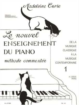 Nouvel Enseignement Du Piano Volume 1 Madeleine Curie laflutedepan