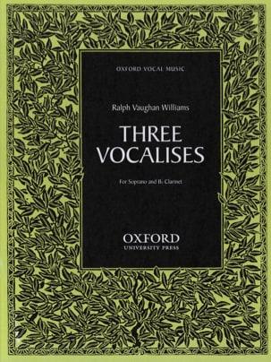 3 Vocalises WILLIAMS VAUGHAN Partition Clarinette - laflutedepan