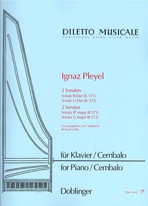 2 Sonates B 571 et 572 Ignaz Pleyel Partition Piano - laflutedepan