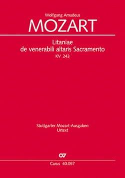 Litaniae de Venerabili Altaris Sacramento. KV 243 - laflutedepan.com