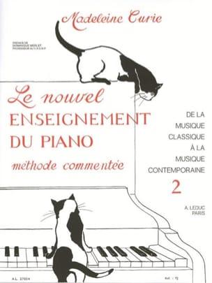 Nouvel Enseignement Du Piano Volume 2 Madeleine Curie laflutedepan