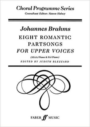 8 Romantic Partsongs - BRAHMS - Partition - Chœur - laflutedepan.com