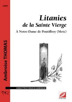Litanies à la Sainte Vierge Ambroise Thomas Partition laflutedepan