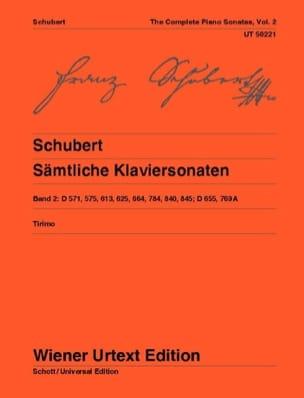 Sonates pour Piano, Volume 2 SCHUBERT Partition Piano - laflutedepan