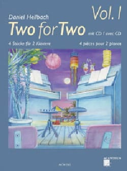 Two For Two Volume 1 Daniel Hellbach Partition Piano - laflutedepan