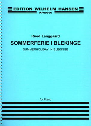 Sommerferie I blekinge BVN 123 - Rued Langgaard - laflutedepan.com