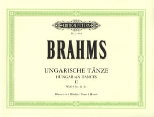 Danses Hongroises Volume 2. 4 Mains BRAHMS Partition laflutedepan