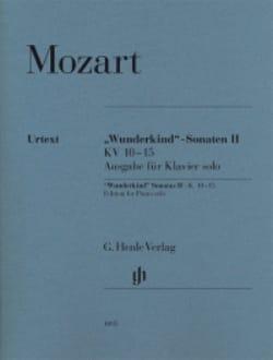 Sonates Wunderkind Volume 2 - KV 10-15 MOZART Partition laflutedepan