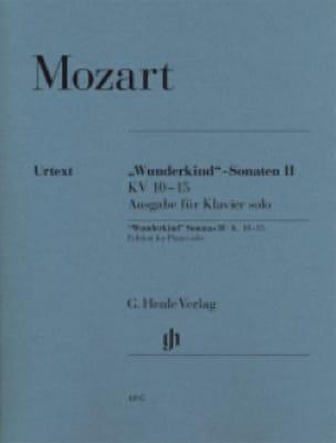Sonates Wunderkind Volume 2 - KV 10-15 - MOZART - laflutedepan.com