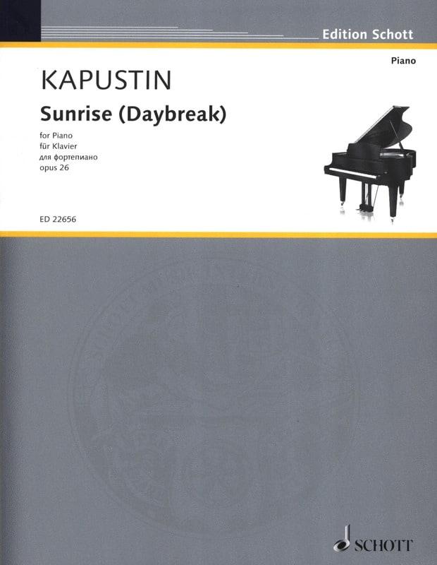 Sunrise (Daybreak) opus 26 - Nikolai Kapustin - laflutedepan.com