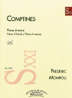 Comptines. 4 mains Federico Mompou Partition Piano - laflutedepan