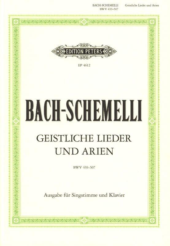 Schemelli Geistliche Lieder Und Arien - BACH - laflutedepan.com