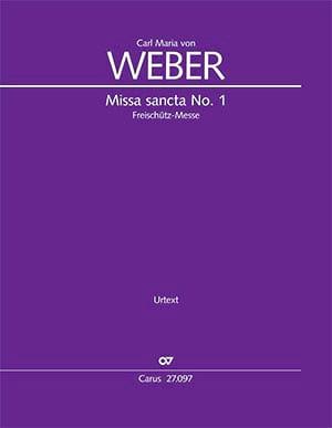 Missa Sancta n° 1 WeV A.2 - Carl Anton Weber - laflutedepan.com