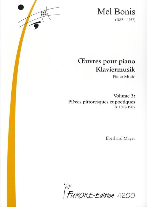Oeuvres pour piano Volume 3 - Mel Bonis - Partition - laflutedepan.com