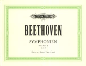 BEETHOVEN - Symphonies 6 to 9. 4 Hands - Partition - di-arezzo.co.uk