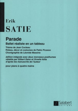 Parade. 4 Mains SATIE Partition Piano - laflutedepan