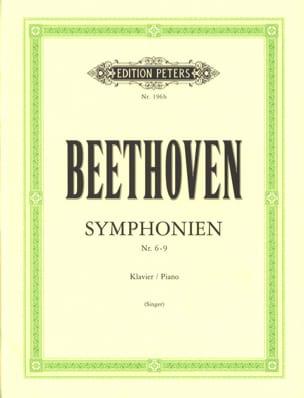 Symphonies 6-9 BEETHOVEN Partition Piano - laflutedepan