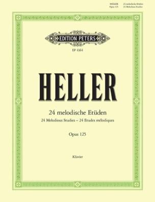 24 Melodische Etüden Opus 125 Stephen Heller Partition laflutedepan
