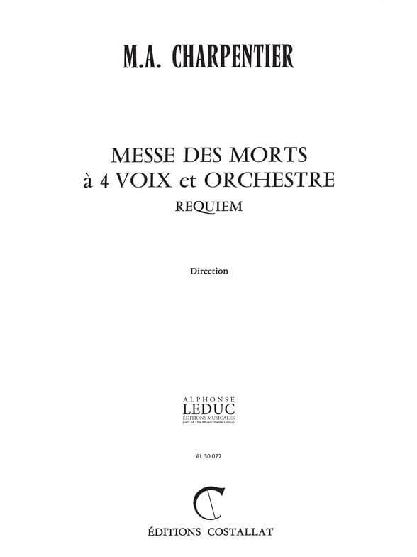 Messe des Morts. Conducteur - CHARPENTIER - laflutedepan.com
