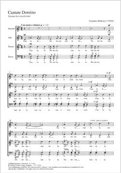 Cantate Domino Vytautas Miskinis Partition Chœur - laflutedepan