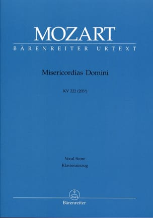 Misericordias Domini K 222. MOZART Partition Chœur - laflutedepan