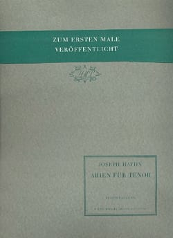 Arien Für Tenor HAYDN Partition Opéras - laflutedepan