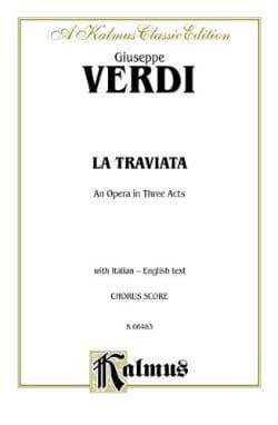 La Traviata* VERDI Partition Opéras - laflutedepan
