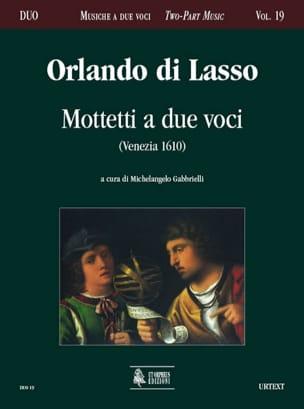 Motetti A 2 Voci Orlando di Lassus Partition Duos - laflutedepan