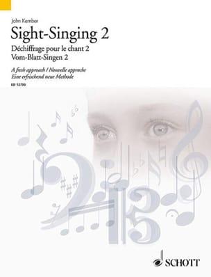 Sight-Singing Volume 2 John Kember Partition Pédagogie - laflutedepan
