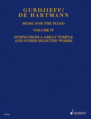 Music For Piano. Volume 4 GURDJIEFF / HARTMANN Partition laflutedepan
